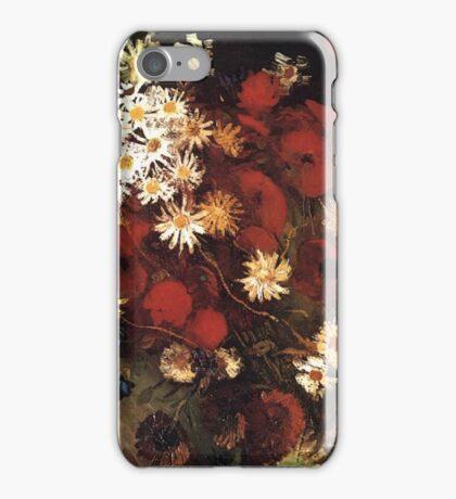 Van Gogh- Vase With Poppies, Cornflowers, Peonies, and Crysanthemums iPhone Case/Skin