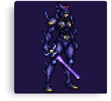 Cecil Harvey (DRK) boss sprite - FFRK - Final Fantasy IV (FF4) Canvas Print