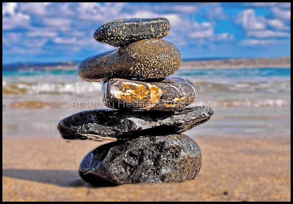 Stacked Stones by Anthony Hedger Photography