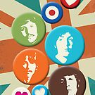 Pins - The Beatles by WitchDesign