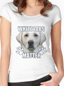 White labs matter Women's Fitted Scoop T-Shirt
