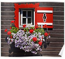 The little red & white window. Poster