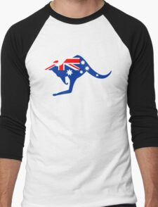 Australian Kangaroo Flag Men's Baseball ¾ T-Shirt
