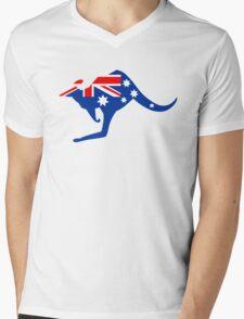 Australian Kangaroo Flag Mens V-Neck T-Shirt