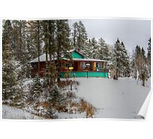 Farm House in Winter Poster