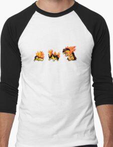Cyndaquil evolution  Men's Baseball ¾ T-Shirt