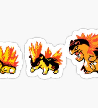 Cyndaquil evolution  Sticker