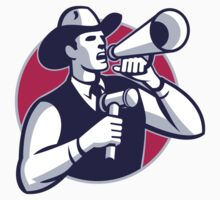 Auctioneer Cowboy With Gavel And Bullhorn T-Shirt