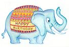 Birthday elephant by Sanne Thijs