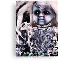 Zombie blue doll Canvas Print