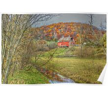 Autumn at Stoney Creek Farm Poster