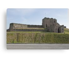 Priory Castle at Tynemouth on the North East coast of England. Overlooking King Edwards bay & the North Sea. Canvas Print