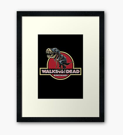 Walking With Dead Dinosaurs Framed Print