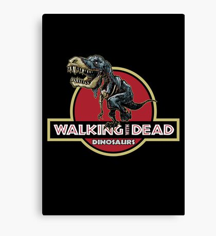 Walking With Dead Dinosaurs Canvas Print