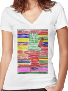 Lend A Hand to the Arc Women's Fitted V-Neck T-Shirt
