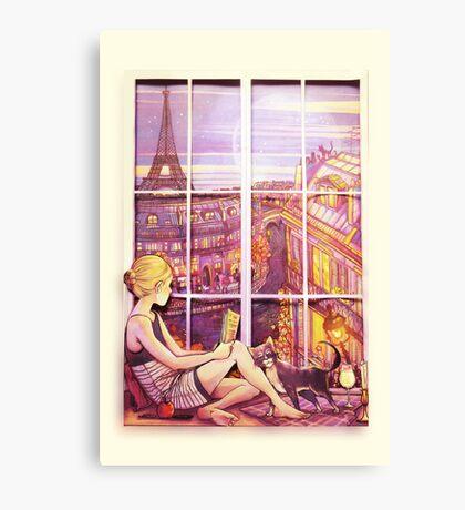 A Window to Paris Canvas Print