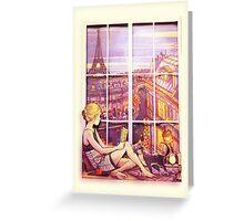 A Window to Paris Greeting Card