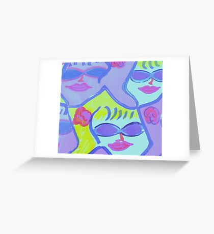 Cool Ladies in Purple Sunglasses! Greeting Card