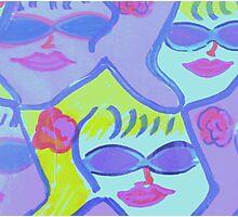 Cool Ladies in Purple Sunglasses! Photographic Print