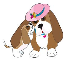 Basset Talk Mom by Maria Bell