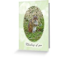 Thinking Of You Greeting Card - Chipmunk Greeting Card