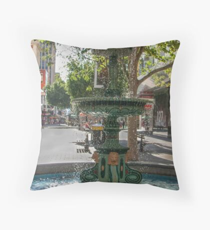 Rundle Mall - Heritage Fountain Throw Pillow
