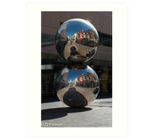 Rundle Mall - Silver Ball or Mall's Balls Art Print