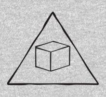 Delta Cubes Will Never Die! (Black) Baby Tee