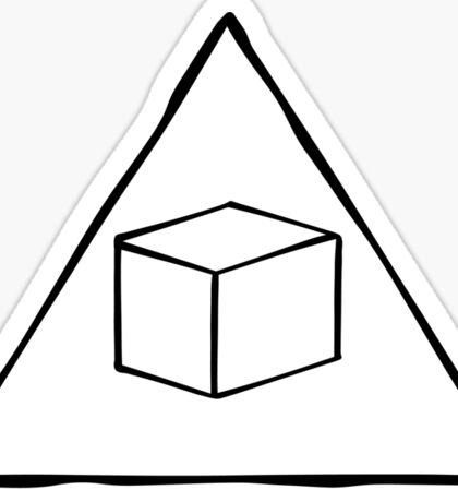 Delta Cubes Will Never Die! (Black) Sticker