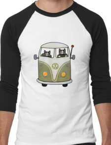 Two Cats in a Green Bus Men's Baseball ¾ T-Shirt
