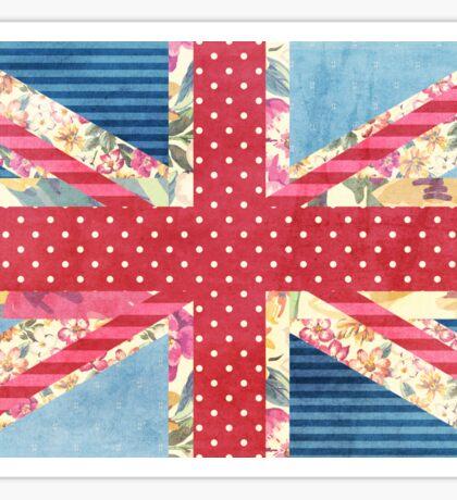Shabby Chic Union Flag Sticker