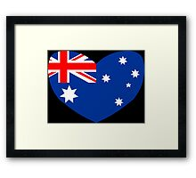Heart Shaped Australian Flag Framed Print