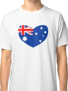Heart Shaped Australian Flag Classic T-Shirt