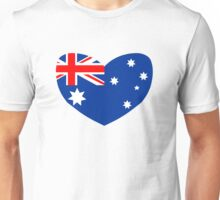 Heart Shaped Australian Flag Unisex T-Shirt