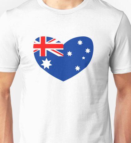 Heart Shaped Australian Flag Unisex T-Shirt