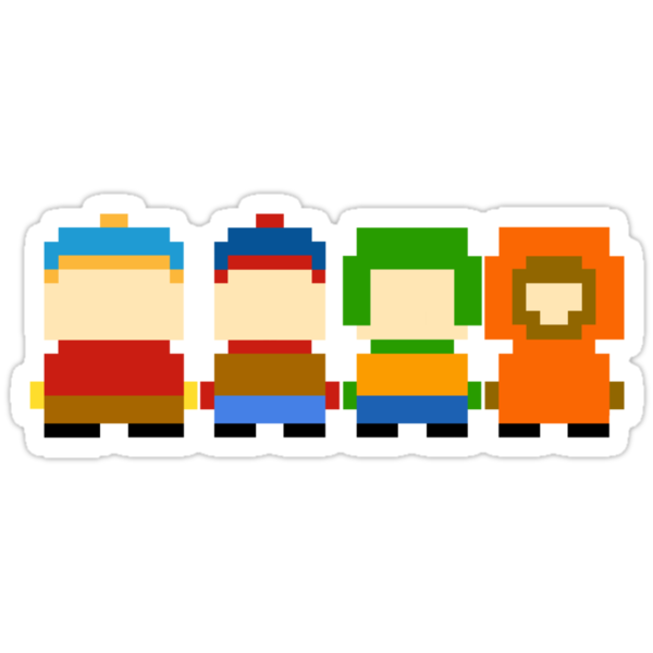 South Park 8-bit by Evelyn Gonzalez