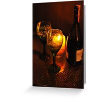 Bottle of Red...for two Greeting Card