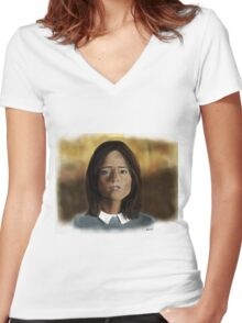 Face the Raven Women's Fitted V-Neck T-Shirt