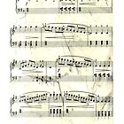 Sheet Music Black & White by Elizabeth Coats