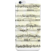 Sheet Music Black & White iPhone Case/Skin