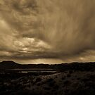Rain over Ft. Davis  by Derrick Birdsall