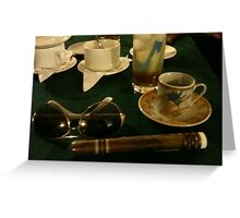 Cigar and coffee Greeting Card