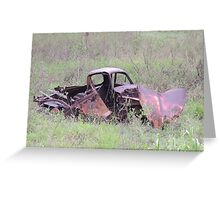 Rustic Remains on Highway Greeting Card