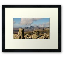 Scafell range from Coniston Old Man Framed Print