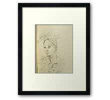 Deb spirited discussion Framed Print