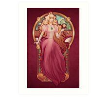 Princess Toadstool Nouveau Art Print