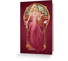Princess Toadstool Nouveau Greeting Card