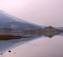 Loch Lubhair in the Mist by Christine Smith