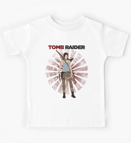 Lara Croft -  Tomb Raider (with burst) Kids Tee