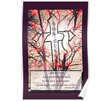 """Forgiven"" Cross of Jesus Red Poster"